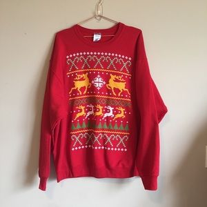 "Men's ""ugly"" Christmas sweatshirt size XL"